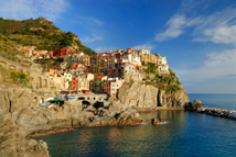 The fishing village of Manarola in Italy's Cinque Terre national park.