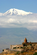 Church in Armenia with Mt Ararat