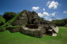 Mayan temple in the jungle, Belize