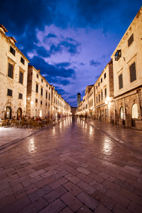 Detail of the main street of old town dubrovnik.