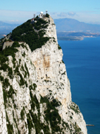 White rock of Gibraltar and coastline